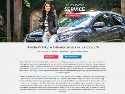 Miniaturka Honda Pick-up and Delivery Service website screenshot