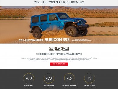 Miniaturka 2021 Jeep Wrangler Rubicon 392 website screenshot